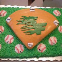 Baseball Team Cake
