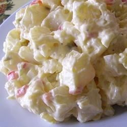 Mama's Potato Salad Recipe - This is a recipe my boyfriend's mother always made for him growing up. I made it, at his request, for his birthday, and it was a huge hit at the party!