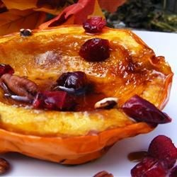 Candied Acorn Squash Recipe - Delicious side dish! No longer than 15 minutes prep AND cooking time. Buttery and sweet. Almost as good as dessert! A must-try!