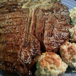 Bistecca alla Fiorentina (Tuscan Porterhouse) Recipe - This flagship, Tuscan steak is made from the region's Chianina breed of cattle which are prized for their tenderness and flavor. In typical Italian style, simplicity rules the day; little more than olive oil, rosemary, and salt are needed to highlight the rich flavor of the grilled meat.