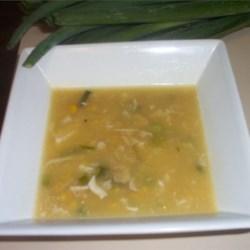 Velvety chicken soup recipe