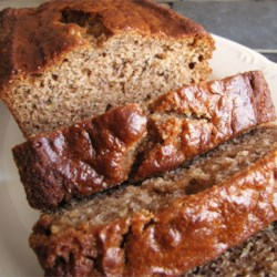 Nanna's Banana Bread Recipe - My Nanna Towgood has been making this loaf bread for over 40 years, and its a family favorite --- moist, flavorful, and just the right amount of sweetness. You may substitute chocolate chips for the walnuts if you desire.