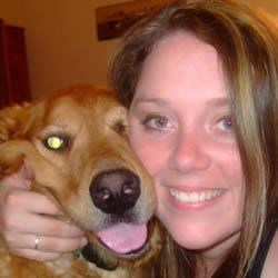 Me and Luke, one of my two Golden Retrievers.