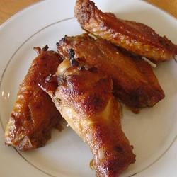 Mahogany Chicken Wings Recipe - Soy sauce, honey, molasses and spices blend to make perfect, beautiful chicken wings.
