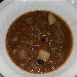 Jack's Old-Fashioned Beef and Vegetable Soup Recipe - This vintage soup recipe uses beef soup bones to enrich a broth loaded with vegetables, beans, and pasta for a hearty meal in a bowl.