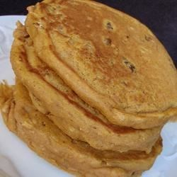 Pumpkin Pecan Pancakes Recipe - Perfect for fall, these thick and flavorful pumpkin pancakes taste wonderful.