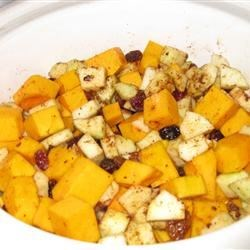 Savory Slow Cooker Squash and Apple Dish