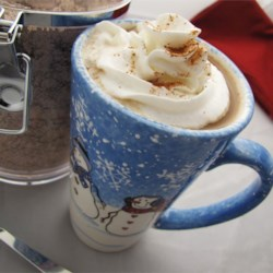 Fire Side Coffee Recipe - Powdered creamer is mixed with instant coffee and chocolate, then lightly spiced with cinnamon and nutmeg. A wonderful drink to enjoy after a long day of skiing, sledding, or skating.