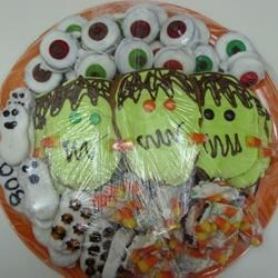 Halloween cookie plate for silent auction