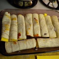 Enchiladas ready for the chili.