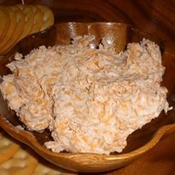 Smoky Cheese Spread Recipe - A few drops of Liquid Smoke turns two simple ingredients--cheddar and cream cheese--into something special.