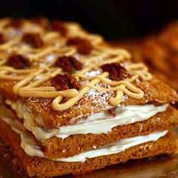 Pumpkin-Pecan Cake Roll (in torte form)