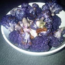 Roasted Purple Cauliflower