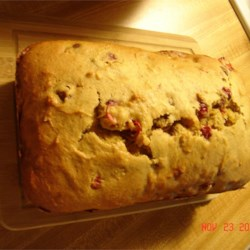 Cranberry Mango Bread Recipe - Mango puree, cranberries, and walnuts blend deliciously in this wonderful holiday bread.