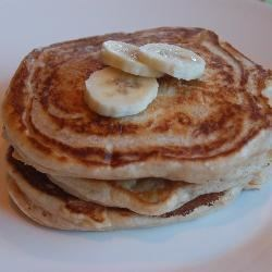 Banana Pancakes II Recipe - These yummy pancakes are a snap to make.