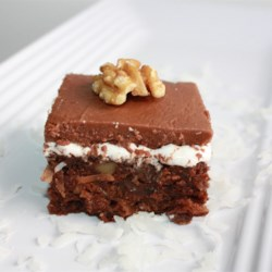 Mississippi Mud Cake I Recipe - This very rich cake with coffee, rum, and chocolate is sure to become one of your favorite recipes once you taste it.