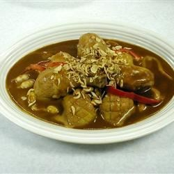 Duck Legs in Green Curry Recipe - Spicy Thai curry sauce complements the rich flavor of duck legs.