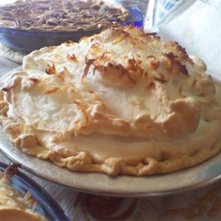 Coconut Marshmallow Cream Meringue Pie Recipe - There are lots of cream, eggs, coconut, and melted marshmallows in this sinfully rich pie, so don 't be surprised if it disappears quickly. Luckily, this recipe yields two pies!