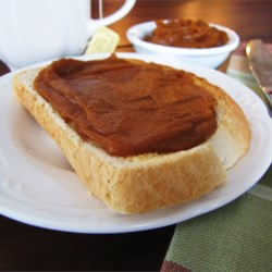 Pumpkin Butter Recipe - This pumpkin butter is an excellent hostess present, and is a wonderful spread for toast and muffins.  It can also be used to make a spectacular holiday dessert, Pumpkin Pecan Cheesecake.