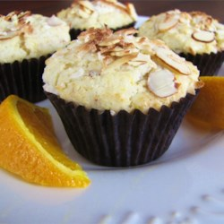 Golden Coconut Almond Muffins Recipe - These wonderful muffins are packed with almonds and coconut flavor!