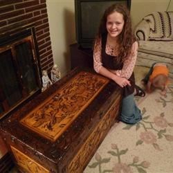 Me with my hope chest