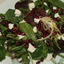 Pomegranate Feta Salad with Lemon Dijon Vinaigrette Photos ...