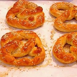 Mall Pretzels Recipe and Video - Those big, soft pretzels rolled in coarse salt are yours to bake at home with basic bread ingredients you probably already have in your pantry.