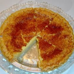 Buttermilk Pie III Recipe - The classic Southern buttermilk custard pie with a sprinkling of nutmeg.