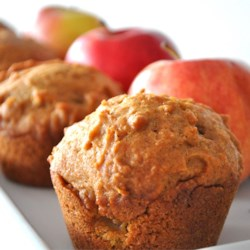 Pumpkin Apple Streusel Muffins Recipe - Muffins that combine the wonderful texture of apples with the warm taste of pumpkin. A simple streusel topping gives them a little something extra.