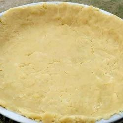 Boiling Water Pie Crust Recipe - There 's bread flour and baking powder in this simple flaky pastry. And yes, there 's boiling water. It whips up into a terrific pastry that holds up to hearty fillings for beef or chicken pot pies.