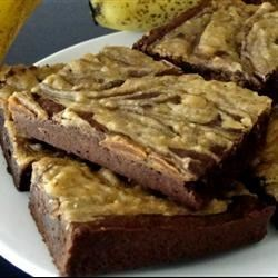 Peanut Butter-Banana Blammo! Brownies