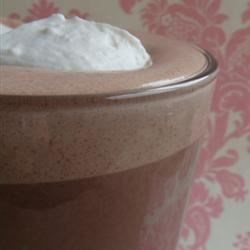 Whipped Hot Chocolate Recipe - Fresh whipped cream is gently folded into a rich hot chocolate -- perfect for a winter's night in.