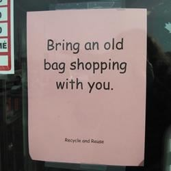 Shopping sign of the times