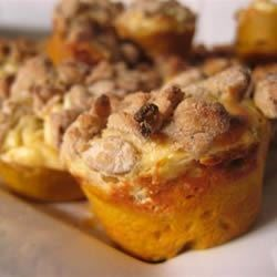 Pumpkin Cream Cheese Muffins Recipe - You'll be glad you made this recipe for pumpkin muffins with a cream cheese filling and a streusel topping.