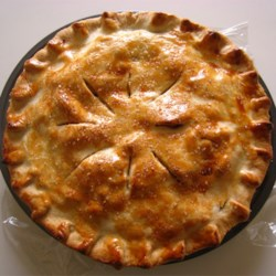 Apple Pie II Recipe - A cooked apple filling makes this pie deliciously juicy. Golden Delicious apples keep their shape well after baking, so you'll get beautiful slices.