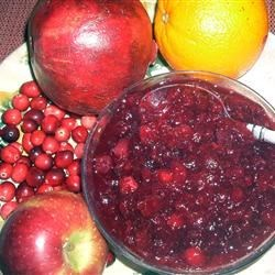Cranberry Pomegranate Sauce Recipe - This is a delicious fruit-filled version of cranberry sauce.  The pomegranate is cooked separately to facilitate seed removal, then both parts are combined to finish cooking. It's wonderful as an accompaniment for poultry, and can be made into a lovely trifle-type dessert with vanilla pudding and pound cake.