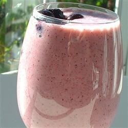 Gordon's Berry Breakfast Drink Recipe - This berry drink recipe makes an easy and satisfying breakfast-on-the-go and is equally wonderful served as a part of a sit down breakfast or brunch. Blend frozen blueberries and strawberries with juice, yogurt, and bananas to make this colorful and tasty drink.