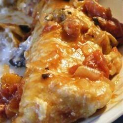 Sour Cream Turkey Enchiladas