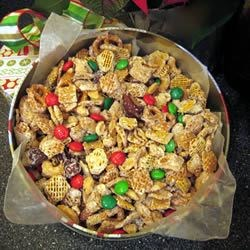 White Chocolate Gorp Recipe - This is a wonderful holiday mix with everyone's favorite things in it! It's perfect served in a large bowl for snacking at holiday parties! You can substitute or add any ingredients you think will be good!