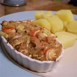 Hot Seafood Ramekins Recipe - Serve these mini seafood 'casseroles' as a first course or appetizer...crusty French bread rounds make an ideal accompaniment.