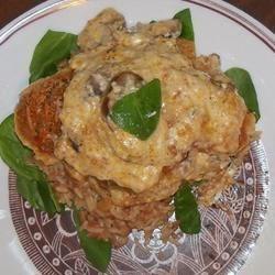 Mushroom Chicken Parmesan