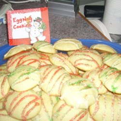 Eggnog Cookies II Recipe - Cute cookies for the holidays made with eggnog and frosted with an eggnog frosting.