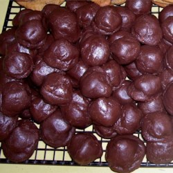 Fudge Bonbons Recipe - Chocolate candy kisses baked in a rich chocolate dough.