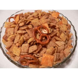 Toasted Party Mix Recipe - A version of the tasty cereal snack mix that can often be bought in stores. It's great for a snack or a party!