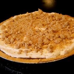 Peanut Butter Pie XVI Recipe - Simply combine vanilla pudding and creamy peanut butter, then spoon the mixture into a graham cracker crust. Mound with lots, and lots of freshly whipped cream, and chill before serving.
