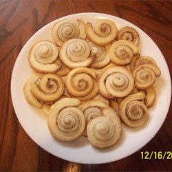 Cinnamon Pinwheels Recipe - Pretty, crisp and good! A little more work than some, but well worth the effort.