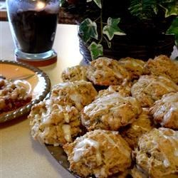 Persimmon Cookies Recipe - This is an old family recipe. We use the Hachiya variety of persimmons. This is a very spicy, very elegant holiday cookie. Pecans can be substituted for walnuts.