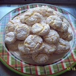 Lemon Snowflake Cookies