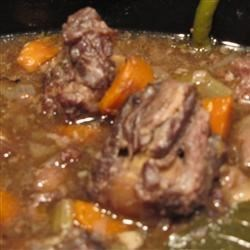 Oxtail Soup II Recipe - This recipe hails from Sri Lanka and includes chopped cabbage, sliced cucumbers, tomatoes, carrots, and potatoes.  All of the ingredients are placed in a large stock pot and simmered until tender.