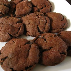 Spicy Chocolate Gingersnap Cookies